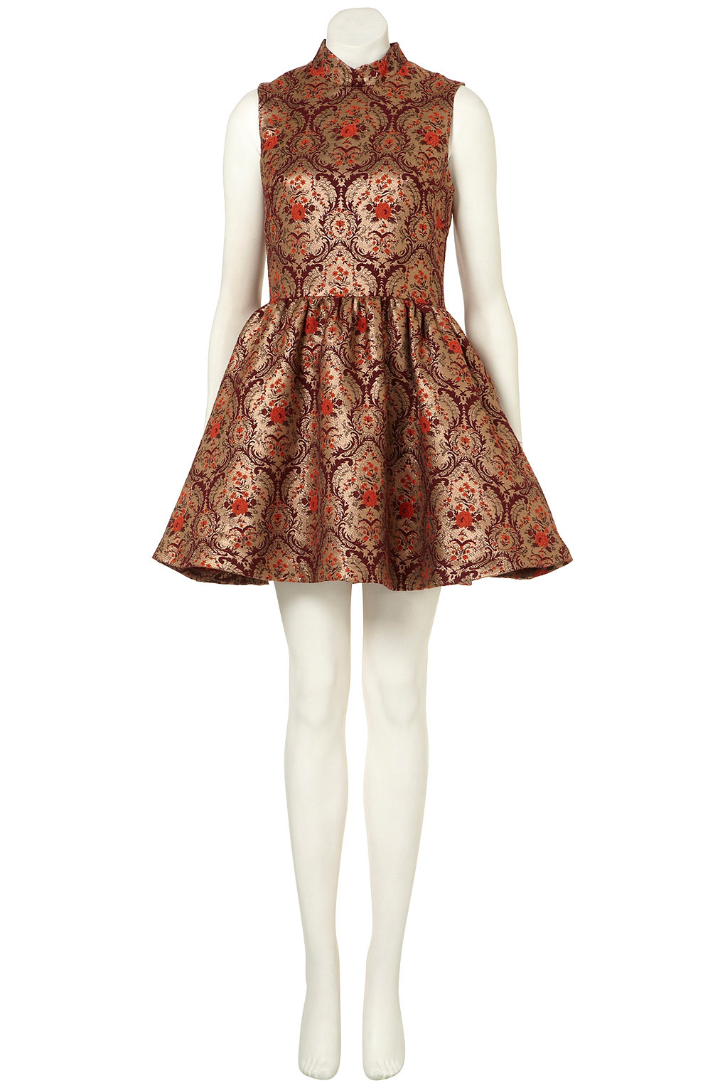 202d3eed4b Look of the Day – Jacquard Skater Dress At Topshop – THPFashion Blog