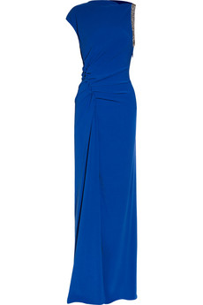 Halston Heritage - Jersey Bright-blue Gown $695