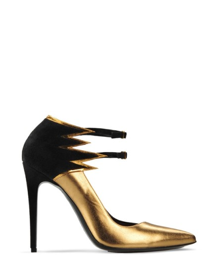 Barbara Bui - Flame' Metallic Leather Pumps $985