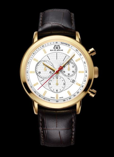 88 RUE DU RHONE - 42mm Stainless Steel Chronograph Watch $625