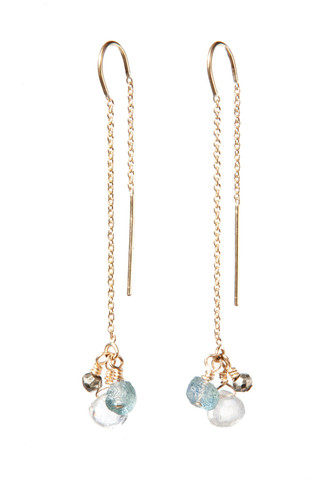 Allison Neumann - Cascade Threader Earrings $250