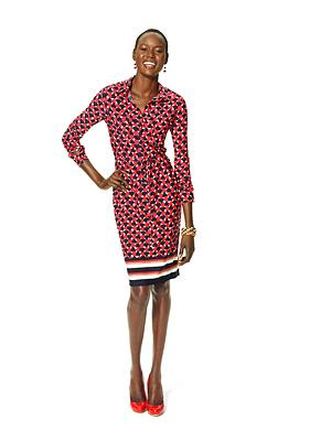 Macy's celebrates Go Red For Women with an exclusive, limited-edition red dress from Ellen Tracy, to support the cause.