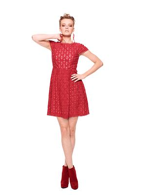 Macy's celebrates Go Red For Women with an exclusive, limited-edition red dress from Kensie, to support the cause