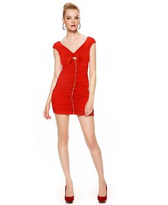 Macy's celebrates Go Red For Women(R) with an exclusive, limited-edition red dress from new brand, Marilyn Monroe, to support the cause.