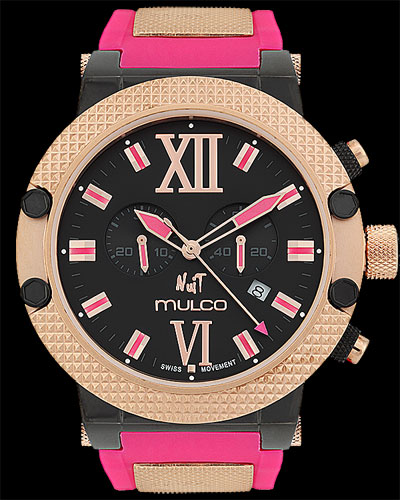 Mulco Watches: Nuit Link - Style #MW3-11010-085 $425