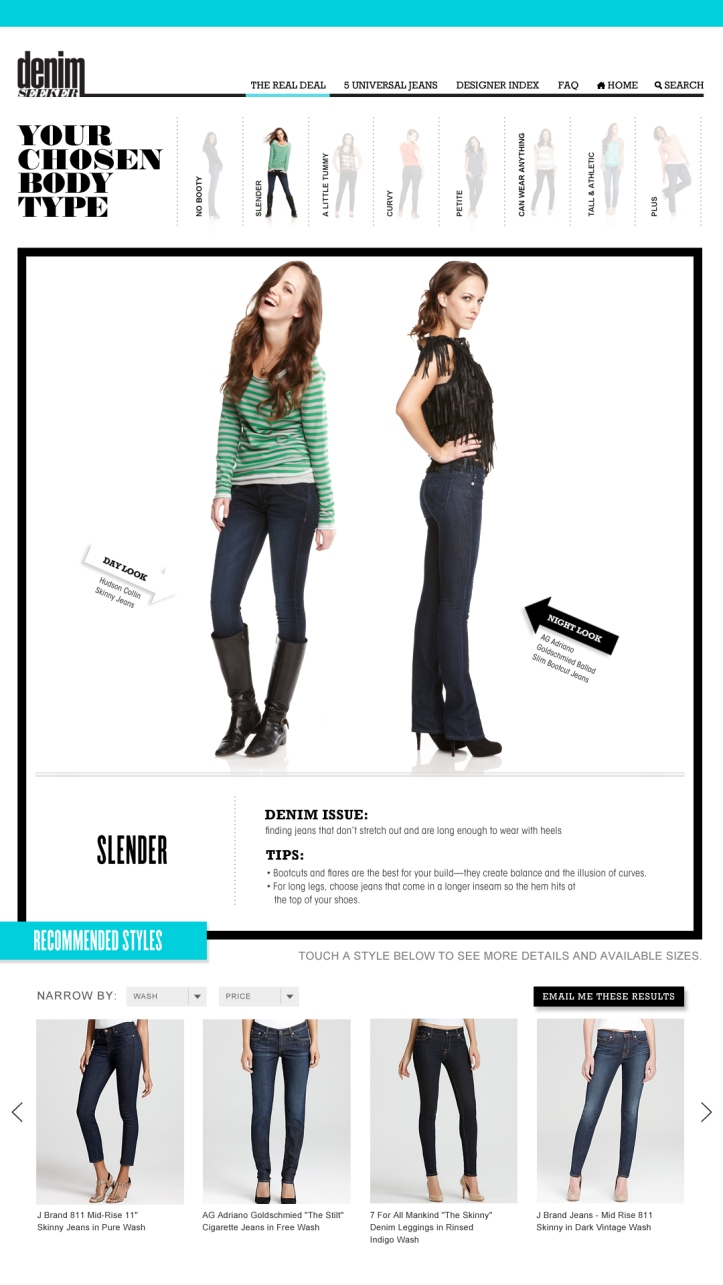 Bloomingdale's: Denim Seeker - Tall Slender Fit