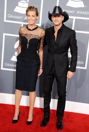 Faith Hill in J. Mendel and Tim McGraw in Tom Ford