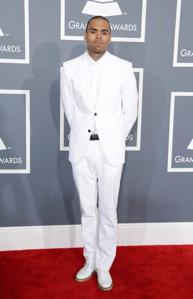 Chris Brown in Lanvin