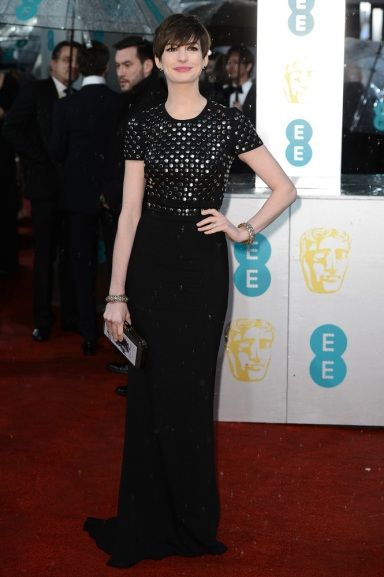 Anne Hathaway in Burberry