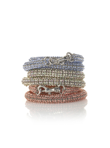 Atelier Swarovski by Christopher Kane -  Bolster Stackable Bracelet Provence Lavender, Luminous Green and Rose Peach
