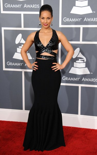 Alicia Keys in Azzedine Alaïa