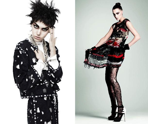 (L) Karl Lagerfeld for Chanel, 2011 (R) Rodarte Vogue, July 2008 Photograph by David Sims