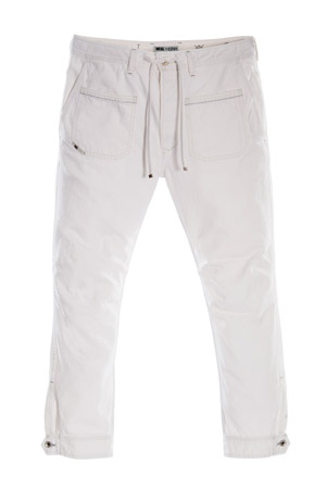 ED-RAKEE-WHITE - Denim Sweat Pants $298
