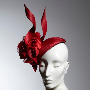 Philip Treacy London - Red-Flower Beret $2007