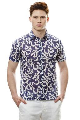 "John Bartlett - ""Om"" Print Shirt $185"