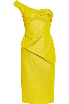Lela Rose - One Shoulder Satin Dress $1295
