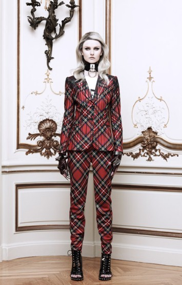 Moda Operandi - Moschino Tartan Plaid Jacket With Paint Drips Effect $2,395