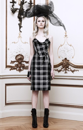 Moda Operandi - Vivienne Westwood Black & White Dame Corset Dress $4,330
