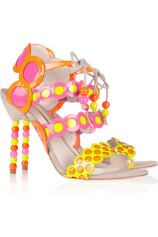 Sophia Webster - Yayoi Paten-Leather and Suede Sandal $635