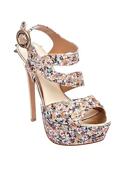 Betsey Johnson – Endrall Suede High Heel Sandal $79