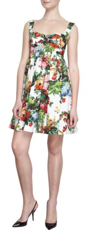 Dolce & Gabbana - Floral Print Babydoll Dress $1495.00