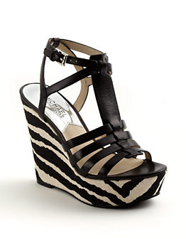 Michael Michael Kors - Georgie Leather Wedge Sandal $175