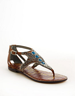 Sam Edelman - Galvin Embellished Leather Sandal $ 130