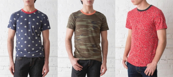 Alternative Apparel - Printed Short-Sleeve Crew $36.00