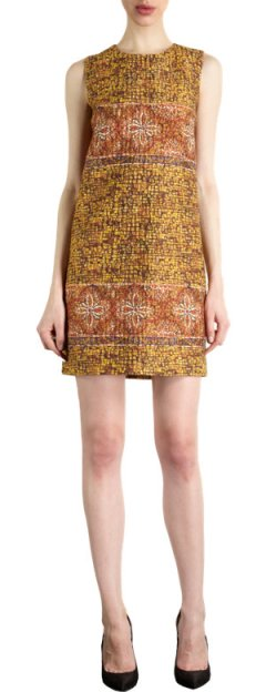 Dolce & Gabbana - Mosaic Jacquard Shift Dress $2645