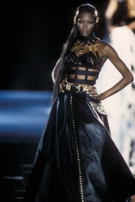 Gianni Versace, leather evening dress, Autumn:Winter 1992