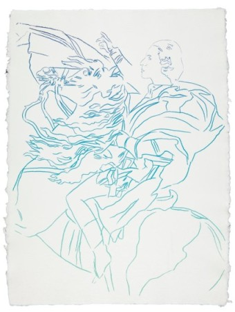Diana Vreeland Rampant (After Jacques Louis David, Napoleon at Bernard) 31 1/8 x 23 5/8 in. (79 x 60 cm.) Executed in 1984. Estimate: $25,000 - 35,000