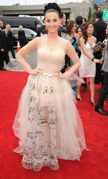 Katy Perry in Valentno Haute Couture