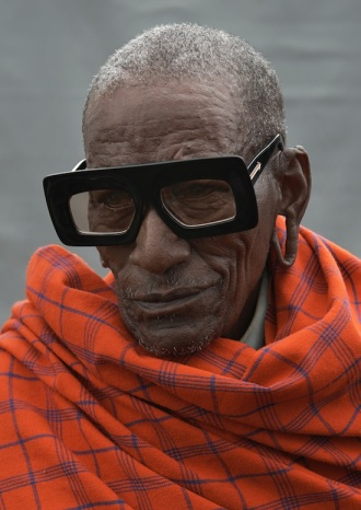 Karen Walker Visible - Kappoka (Maasai Beader) in Enlightened in Black with Gold