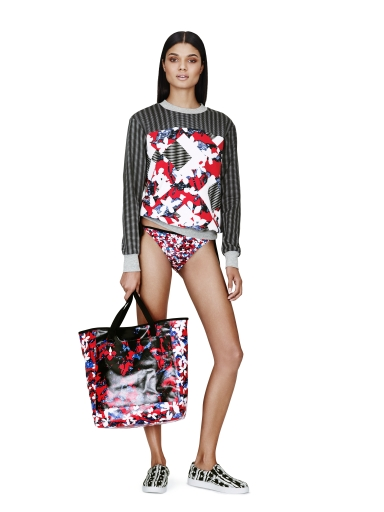 Sweatshirt in Red Floral/Check Print, $29.99* Bikini Bottom in Red Floral Print, $14.99* Beach Tote in Red Floral Print, $39.99* Slip-On Shoe in Black/White Print, $29.99** *Target.com Exclusive **Available Globally on Net-A-Porter.com