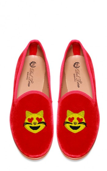 Edie Parker X Del Toro - Happy Cat Loafers $340