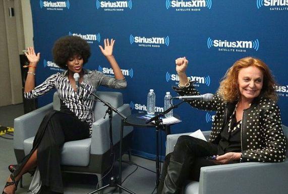 Naomi Campbell & Diane von Furstenberg SiriusXM Q&A