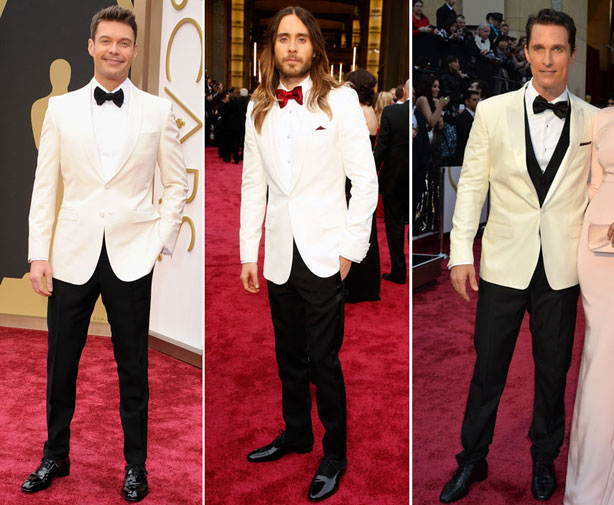 Ryan Seacrest in Burberry, Jared Leto in Saint Laurent and Matthew McCnaughey in Dolce & Gabbana