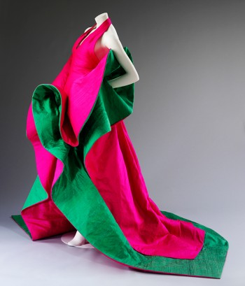Evening dress of silk, designed by Roberto Capucci, 1987-1988. Courtesy Roberto Capucci Foundation. Photo © Victoria and Albert Museum, London