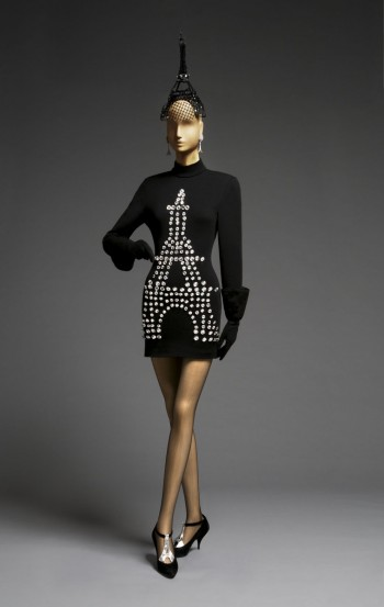 Woman's Ensemble: Dress, Hat, and Shoes, Fall/Winter 1989. Patrick Kelly, American (active Paris), c. 1954 - 1990. Dress: Wool and spandex knit, plastic. Hat: Wire, nylon velvet. Shoes: Leather. Promised gift of Bjorn Guil Amelan and Bill T. Jones.