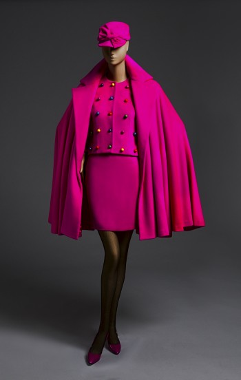 Woman's Ensemble: Jacket, Skirt, Cape, Belt, and Cap, Fall/Winter 1989. Patrick Kelly, American (active Paris), c. 1954 - 1990. Jacket: Fulled wool, plastic. Skirt: Wool and acrylic fulled wool. Cape: Fulled wool. Promised gift of Bjorn Guil Amelan and Bill T. Jones.