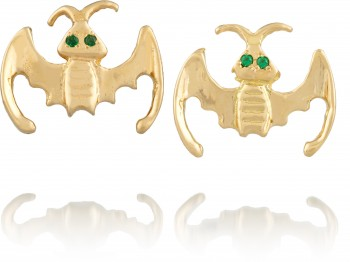 Anita Ko - Studded Bat Earrings