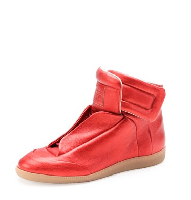 Bergdorf Goodman - Maison Martin Margiela Future Metallic High-Top Sneaker $925.00