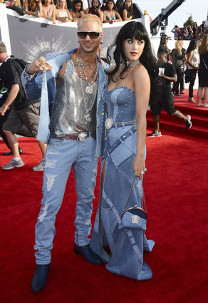Riff Raff and Katy Perry in Versace