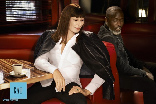 Gap Fall 2014 - Anjelica Huston and Michael K. Williams