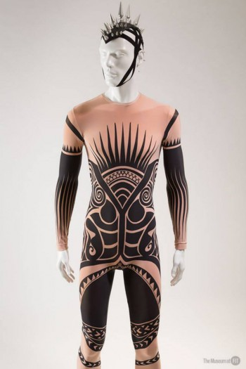 Stella McCartney, man's tattoo costume for Ocean's Kingdom, Fall 2011, lent by New York City Ballet. Photograph © The Museum at FIT