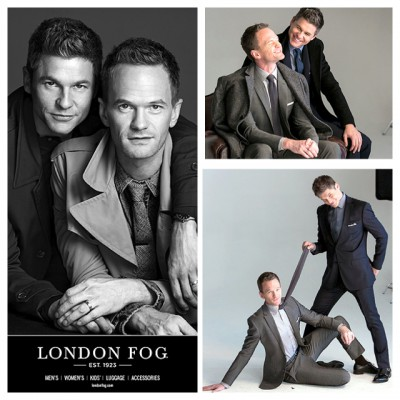 Neil Patrick Harris and David Burtka for London Fog Holiday