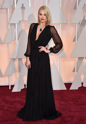 Margot Robbie in Saint Laurent