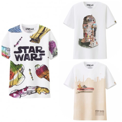 From (L to R) UTGP Star Wars - Chewbacca/C-3PO Graphic T-Shirt $19.90,  UTGP Star Wars R2-D2 T-Shirt $19.90, UTGP Star Wars - Grand Prix T-Shirt $19.90