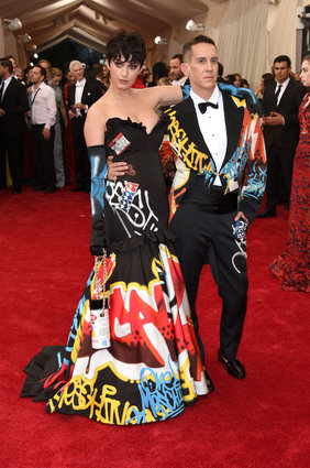 Katy Perry and Jeremy Scott in Moschino