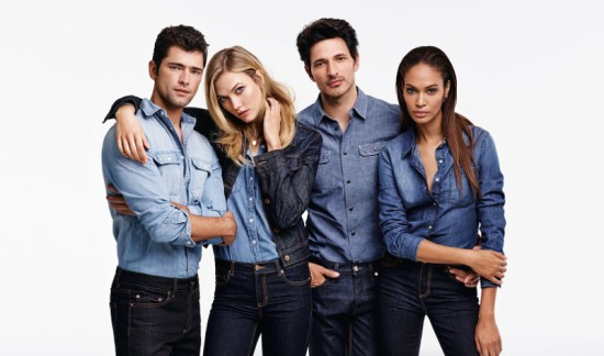 Joe Fresh Fall 2015  featuring models Sean O'Pry, Karlie Kloss, Andres Velencoso and Joan Smalls